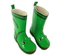 Kidorable Green Frog Rain Boots Size 12