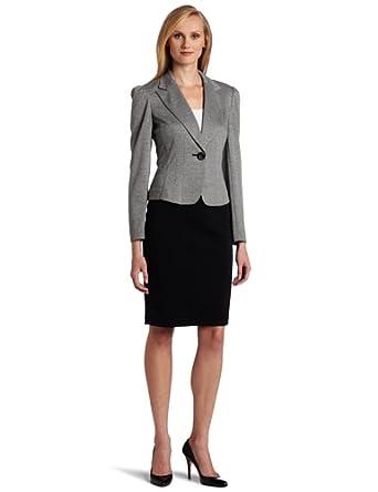 Denim Dress on Amazon Com  Nine West Women S Knit Unmatched Jacket And Skirt  Black