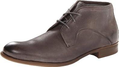 John Varvatos Men's Sid Commuter Chukka Boot,Steel Grey,8 M US