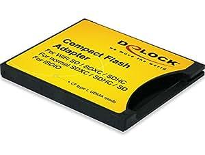 DeLOCK SDXC/SDHC/SDカードをCF TypeⅠに変換するアダプタ【62637】