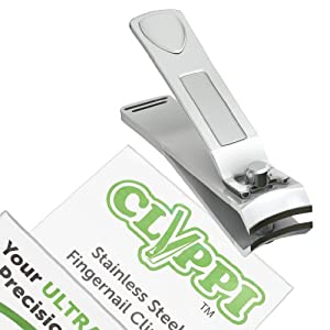 Clyppi Fingernail Clippers For Cool Dudes, Well Groomed Men & Stylish Ladies | Perfect Birthday Gifts For Him & Her | Best Nail Clippers to Trim your Finger Nails | Popular Easy Grip Nail Clipper | Professional Heavy Duty Stainless Steel Nail Cutter | Lifetime Warranty