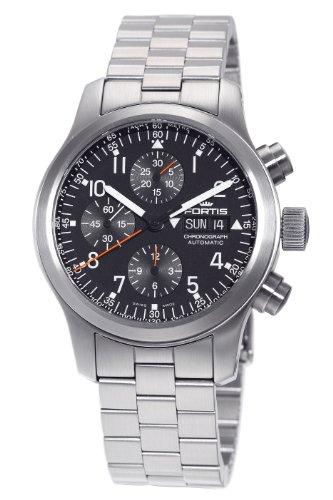Fortis Men's 635.10.11M B-42 Pilot Professional Automatic Chronograph Black Dial Watch