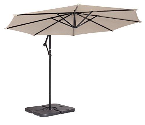 Coolaroo cantilever umbrella water base pack of 4 home for Ikea cantilever umbrella