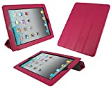 rooCASE Smart Case (Magenta) Leather Cover for Apple iPad 2 (Built-in Magnet Sleep and Awake Function)