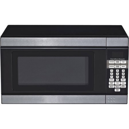 Hamilton Beech .7 cubic foot 700 watt stainless steel and black microwave