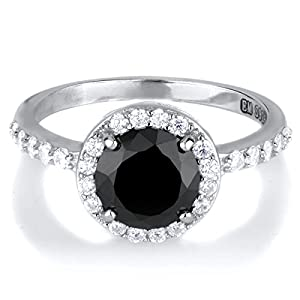 Carrie's Simulated Black Simulated Diamond Ring - Comparable To Sex & the City 2