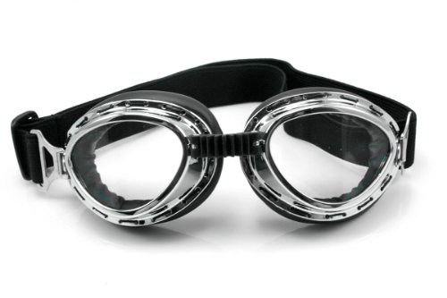 Neverland Motorcycle Bike Glasses Goggles Scooter Aviator Pilot Cruiser See-through