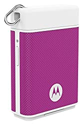Motorola P1500 Power Pack Micro 1500mAH Portable Battery for Smartphones with Motorola Key Link to Find Phones/Keys (Violet)