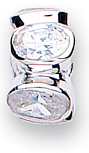 Jo For Girls Silver Set with 5 Oval Cubic Zirconia Bead