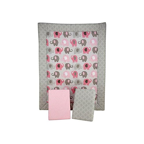 Elephant Time Pink Porta Portable Baby 2 Piece Crib Bedding Set - 1