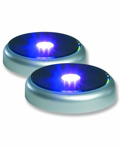 Merchandise Display Base, Led Lighted, Silver, Mirrored Top, Color Changing Lights, (Pack Of 2) Best Seller!