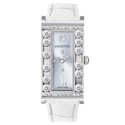 Orologio donna da polso in acciaio Swarovski Lovely Crystals Square White 5096680