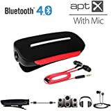 Avantree aptX 2-in-1 Bluetooth 4.0 Headphone Adapter Receiver and Wireless Clip-on Headset with Built-in Mic, Support any 3.5mm Audio Devices Clipper