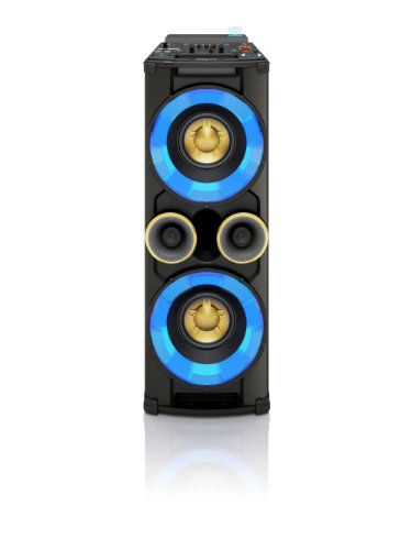 Philips NTRX500/10 Mini HiFi-System (650 Watt, 5-Band-Equalizer, Lautsprecher, Bluetooth, FM Digital, Dual-USB) schwarz