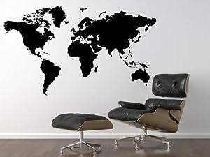 stickers muraux tatouage mural carte du monde dans de nombreuses couleurs et tailles. Black Bedroom Furniture Sets. Home Design Ideas