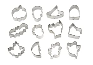 Wilton 12-Piece Mini Halloween Cookie Cutter Set