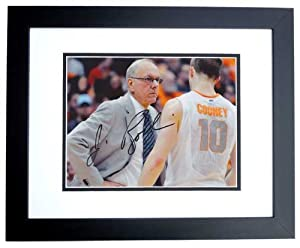 Jim Boeheim Autographed  Hand Signed Syracuse Orangemen 8x10 Photo - BLACK CUSTOM... by Real+Deal+Memorabilia
