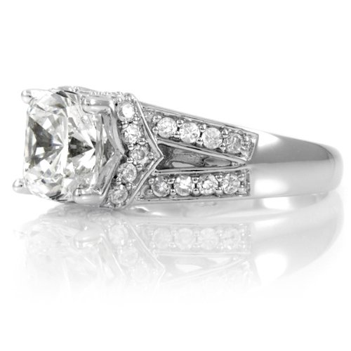 Marinel's Engagement Ring – Cushion Cut CZ