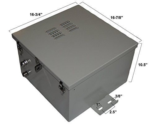 NEMA 4X Aluminum Electrical & Battery Enclosure 17