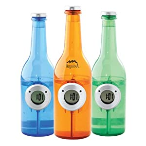 Water Powered Clock in Bottle Shape, Orange No Batteries Required Just add water