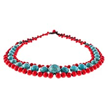 Choker - Turquoise and Coral