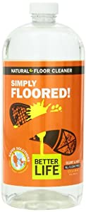 Better Life Simply Floored Green Floor Cleaner, 32 Ounce Bottle,  (Pack of 2)