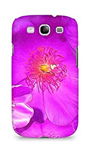 AMEZ Drawn Purple Flowers Back Cover For Samsung Galaxy S3 i9300