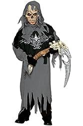 Boys Grim Reaper Kids Child Fancy Dress Party Halloween Costume