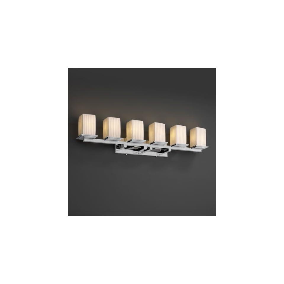Justice Design Group POR 8686 Montana 6 Light Bath Bar