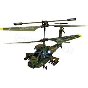 Syma S109G Apache RC 3 channel Helicopter with Gyro and Controller- Includes Netgadgets Helicopter Flying Guide