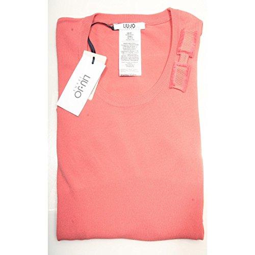 85057 maglia LIU JO JEANS MANICA LUNGA VISCOSA polo donna t-shirt women [XS]