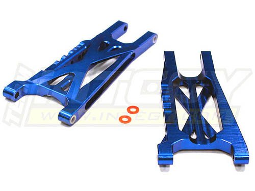 Integy RC Hobby T8541BLUE Billet Machined Suspension Arm (2) for Traxxas 1/10 Slash 4X4