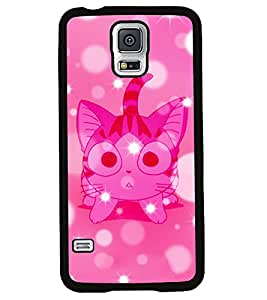 Fuson 2D Printed Cat Designer back case cover for Samsung Galaxy S5 Neo - D4563