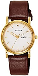 Sonata Analog White Dial Mens Watch - 1141YL10