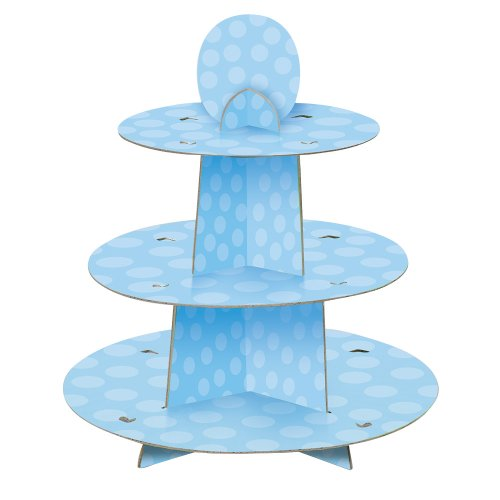 Light Blue Cardboard Cupcake Stand (Paper Goods For Baby Boy Shower compare prices)
