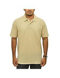 Duke Men Basic Polo Skin Color Collar Tshirt By Returnfavors