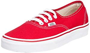 Vans Adult Authentic Core Classics, Red , Men's 15