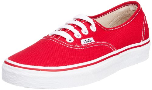 Vans Unisex Authentic Trainer red VEE3RED 5 UK
