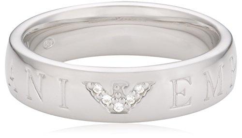 Emporio Armani Damen-Ring 925 Sterling Silber Zirkonia weiß Gr.56 (17.8) EG3144040-6,5