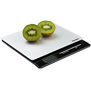 Duronic KS8 Slim Glass Surface Design Digital Display 5KG Kitchen Scales with 2 Years FREE Warranty by Duronic