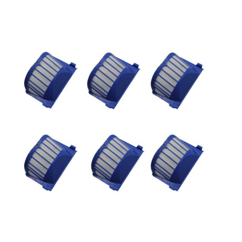 Cimc Llc 6 Pack Filters For Irobot Roomba 500 Series Aerovac Filter Replacements Blue Aerovac 536 550 551 552 564 front-595069
