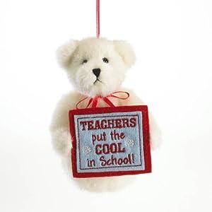 Enesco Boyds Plush 5-Inch Holiday Thinking of You Ornament, Teacher