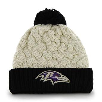 NFL Baltimore Ravens Ladies Matterhorn Knit Cap, Natural by