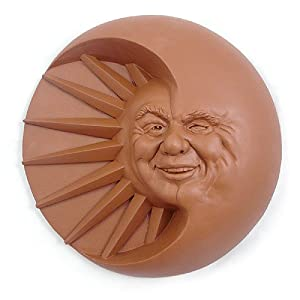 Amazon.com : Celestial Smile Sun and Moon Cast Stone Wall Art ...