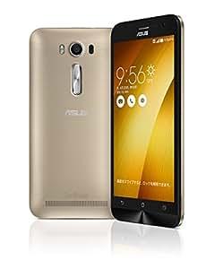 エイスース SIMフリースマートフォン ZenFone 2 Laser(Qualcomm Snapdragon 410/メモリ 2GB)16GB ゴールド ZE500KL-GD16