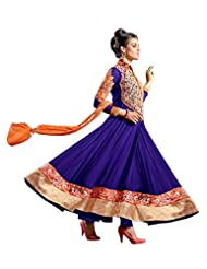 Fabboom Online Shopping For Blue Anarkali Suit