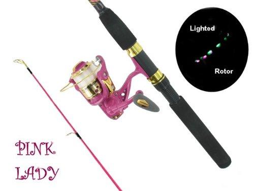 Fishlander rod reel combos roddy hunter pink lady 6 for Pink fishing reel