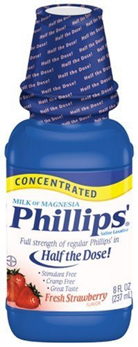Phillips' Concentrated Milk of Magnesia, Fresh Strawberry, 8-Ounce Bottles (Pack of 4)