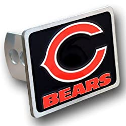 Chicago Bears Large Zinc Trailer Hitch Cover - NFL Football Fan Shop Sports Team Merchandise