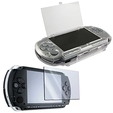 eForCity Clip On Clear Crystal Hard Case With LCD Screen Protector for Sony PSP 2000 3000